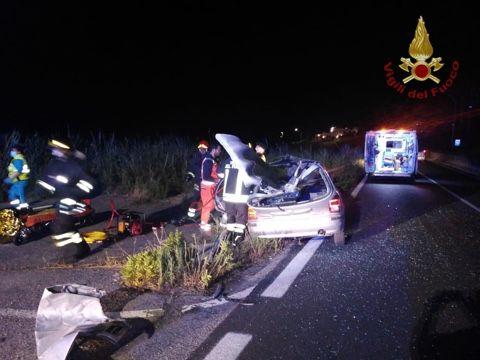 Auto fuori strada sull'Aurelia: ferito giovane civitavecchiese
