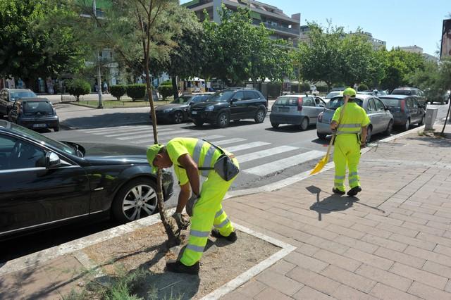 Csp, proseguono gli interventi di pulizia e sfalcio in tutta la città