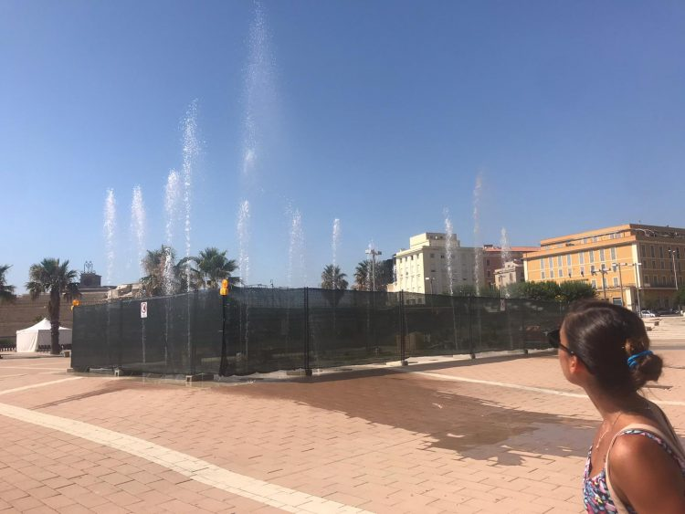 Prove tecniche per la fontana alla Marina