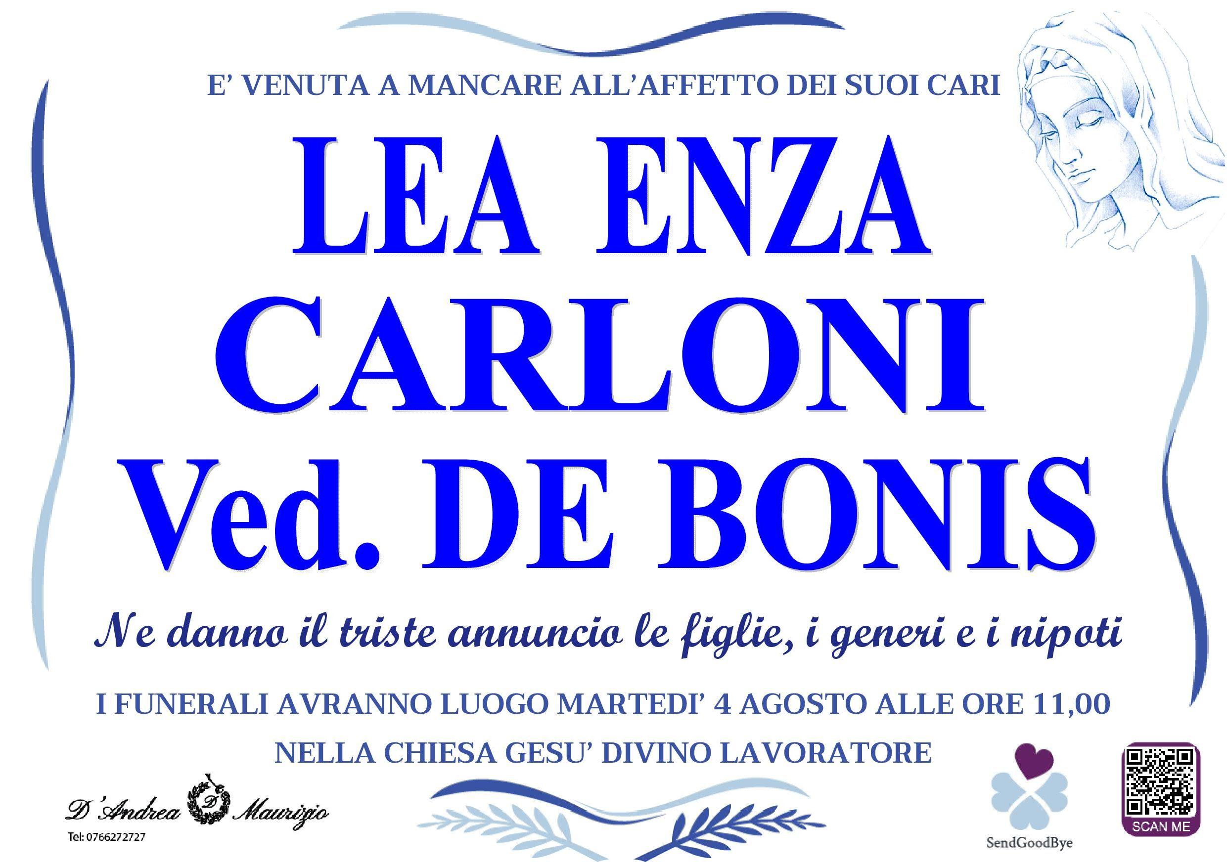 LEA ENZA CARLONI ved. DE BONIS