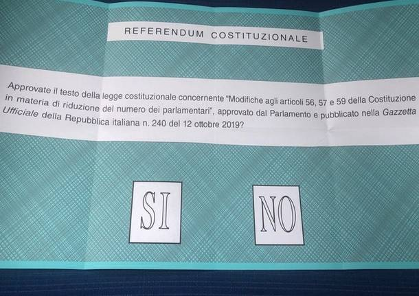 Anche i collinari hanno detto sì al taglio dei parlamentari